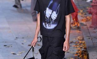 Un mannequin au défilé Louis Vuitton de janvier 2019