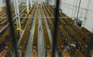Les entrepôts du géant du commerce en ligne Amazon à Berlin le 11 novembre 2014