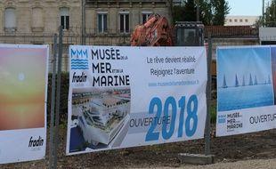 Le chantier du musée de la mer et de la marine aux Bassins à flot à Bordeaux