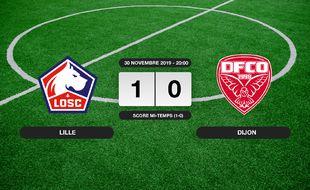 Ligue 1, 15ème journée: Le LOSC bat Dijon 1-0 à domicile