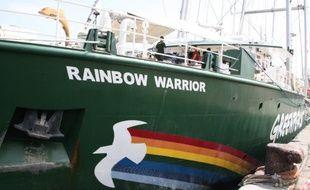 "Le ""Rainbow warrior III"", le bateau de Greenpeace. (archives)"