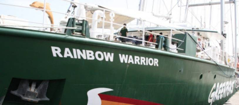 "Le ""Rainbow warrior III"", le bateau de Greenpeace. (archives)"