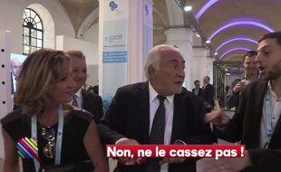 DSK, agacé par les questions d'un journaliste de