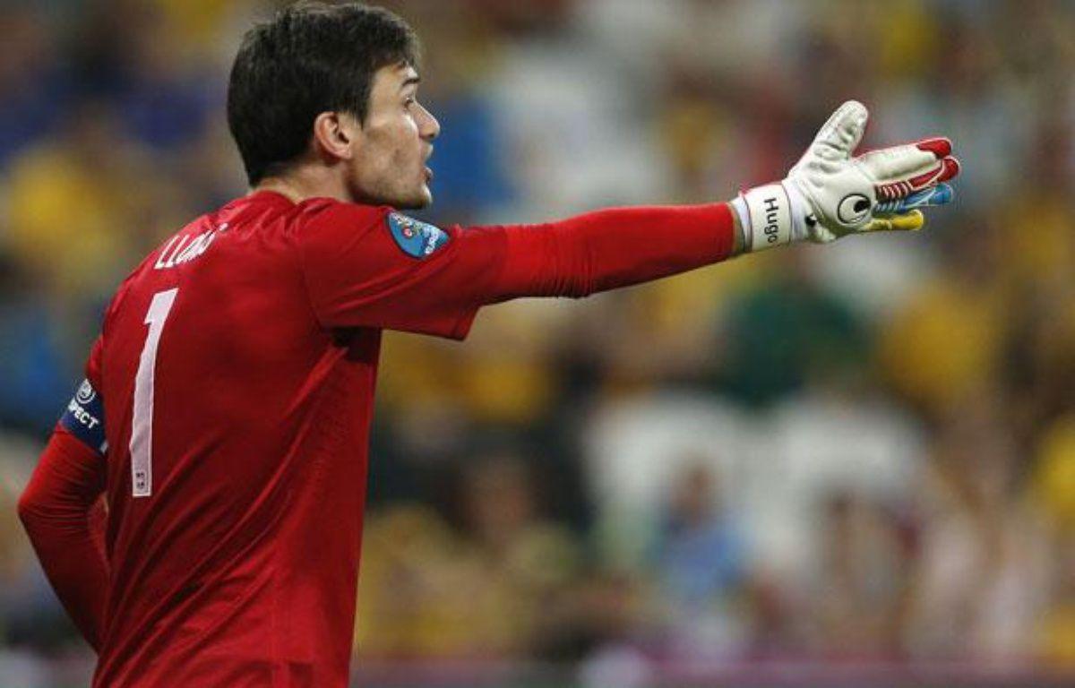 Le gardien de l'équipe de France, Hugo Lloris, le 15 juin 2012 – Y.HERMAN/REUTERS