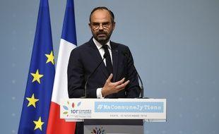 Edouard Philippe au 101e Congrès de l'Association des maires de France, le 22 novembre 2018.