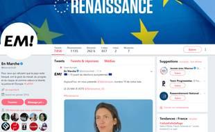 Capture d'écran du compte Twitter d'En Marche.