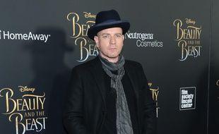 Ewan McGregor lors de la première de La Belle et la Bête à New York en mars 2017