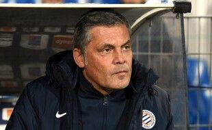 Bruno Martini sur le banc de Montpellier.
