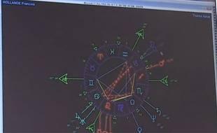 L'astrologue Christine Haas a réalisé le thème astral de François Hollande grâce à son logiciel