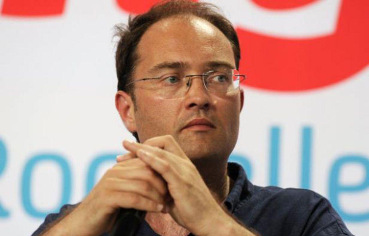 Guillaume Bachelay lors des universités d'été le 25 août 2012 à La Rochelle. – J.P. MULLER / AFP