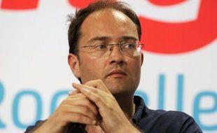 Guillaume Bachelay lors des universités d'été le 25 août 2012 à La Rochelle.