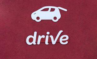 Le logo d'un magasin Drive de retrait de courses.