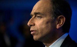 Jean-Francois Copé au siège de l'UMP le 25 mai 2014 à Paris