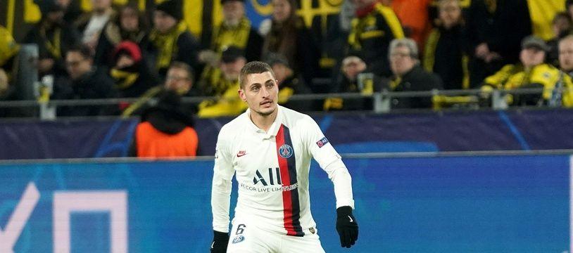 Le milieu du PSG Marco Verratti contre le Borussia Dortmund, le 19 février 2020.