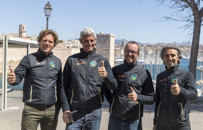Quentin Gilles, Sébastien Audigane, François Jambou et Christophe Caille.
