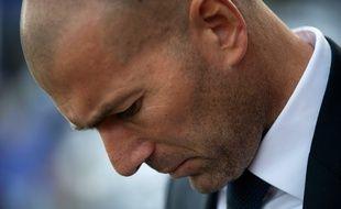 L'entraîneur du Real Madrid Zinédine Zidane, le 21 février 2016 à Malaga.