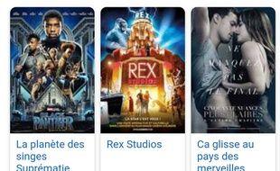 Des titres de films et des affiches qui ne correspondent pas.