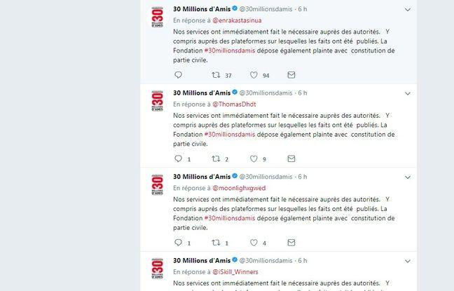 De nombreuses personnes ont interpellé 30 Millions d'Amis sur Twitter après la diffusion choquante d'un chien traîné par une motocross.