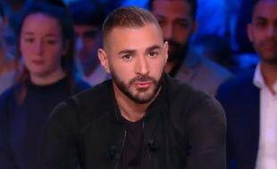 Karim Benzema sur Canal + le 12 novembre 2017.