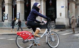 Un Vélo'v à Lyon