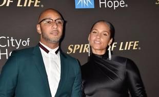 Le producteur Swizz Beatz et la chanteuse Alicia Keys