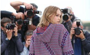 Lily-Rose Depp à Cannes le 14 mai 2016.