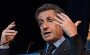 Nicolas Sarkozy, président du parti Les Républicains, le 10 juin 2015 à Puteaux.