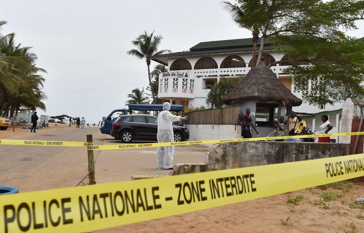 La plage de Grand Bassam en Côte d'Ivoire victime d'un attentat, le 14 mars 2016 – ISSOUF SANOGO / AFP