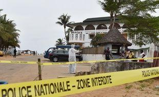 La plage de Grand Bassam en Côte d'Ivoire victime d'un attentat, le 14 mars 2016.