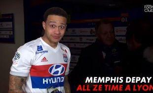Memphis Depay content à l'idée de finir sa carrière à Lyon.