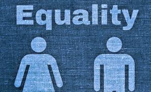 Illustration de l'égalité homme/femme.