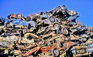 Illustration d'une casse automobiles.