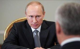 Le président russe Vladimir Poutine dans sa résidence près de Moscou, le 17 juin 2014