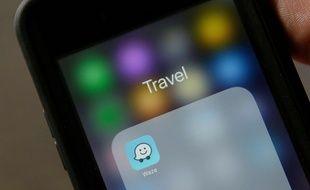 L'application de navigation Waze (illustration).