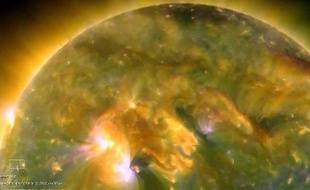 Une éruption solaire filmée par la sonde STEREO
