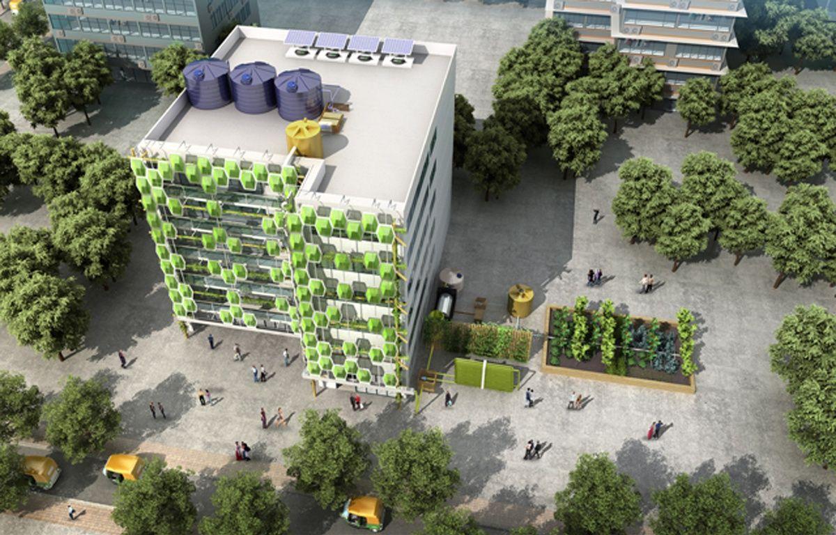 Image de synthèse du projet Newater Delhi. – Ecole de design de Nantes