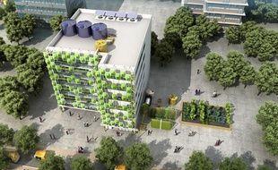 Image de synthèse du projet Newater Delhi.