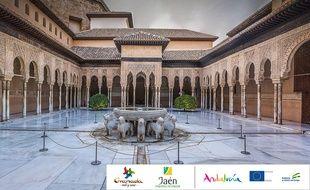 Patrimoine mondial, l'ensemble de l'Alhambra et du Generalife est le monument le plus emblématique et visité de Grenade