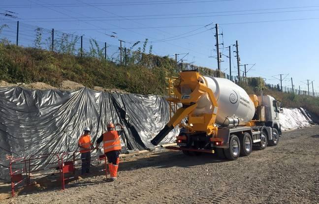 Le chantier de la création de quatrième voie ferrée à Mundolsheim, le 15 octobre 2018.