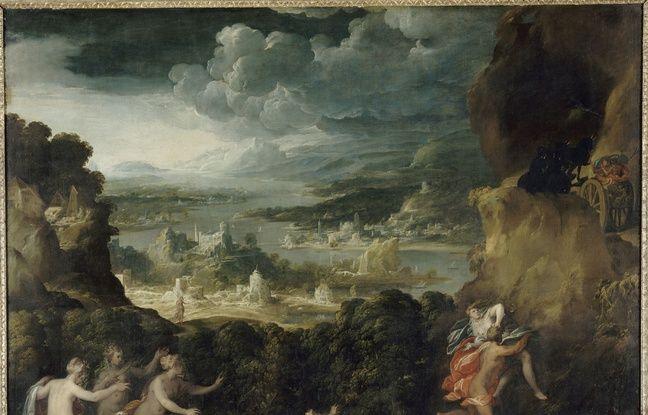 L'Enlèvement de Proserpine de Niccolò dell'Abate, vers 1570