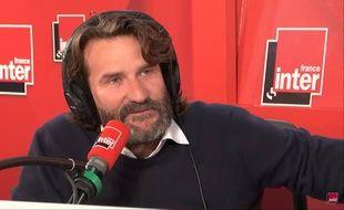 Frédéric Beigbeder pendant sa dernière chronique sur France Inter.