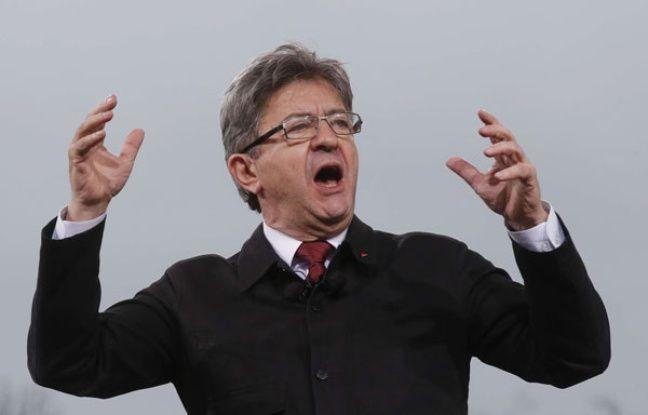 Jean-Luc Mélenchon, le 18 mars sur la place de la Bastille.
