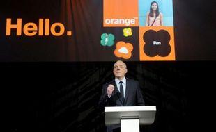 Le PDG de l'opérateur de téléphonie Orange Stéphane Richard, le 17 mars 2015 à Paris