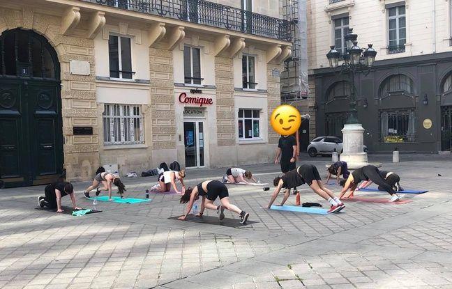 Un cours de sport dans le 2e arrondissement.
