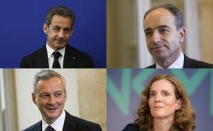 Nicolas Sarkozy, Jean-François Copé, Bruno Le Maire, Nathalie Kosciusko-Morizet.
