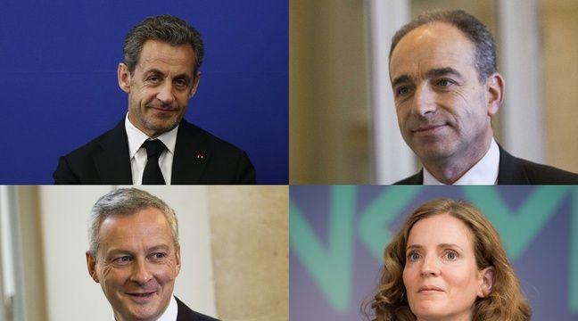 Nicolas Sarkozy, Jean-François Copé, Bruno Le Maire, Nathalie Kosciusko-Morizet. – SIPA/AFP
