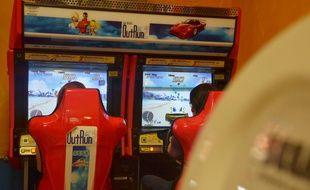 Des jeux d'arcade (illustration).