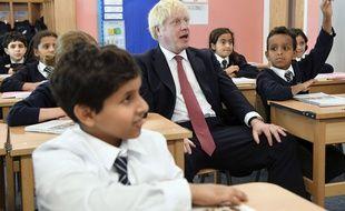 Boris Johnson a fait un point sur le Brexit à l'issue d'une visite dans une école primaire à Londres, le 10 septembre 2019.