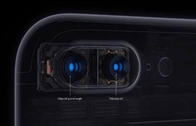 Les deux optiques de l'iPhone 7 Plus: une de 28mm, la seconde de 56mm.