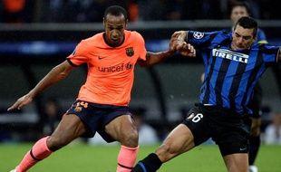 L'attaquant Thierry Henry (en orange), lors du match face à lInter Milan en Ligue des champions, le 16 septembre 2009.